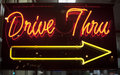 Drive thru neon sign Stock Photography