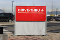 Drive thru road sign for your company Stock Images