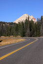 Drive to beartooth highway scenic landscape on the way Stock Image