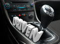 Driven 3d Word Gear Shift Fast Speed Ambition Attitude Royalty Free Stock Photo