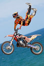 Driver el loco miralles fmx freestyle extreme barcelona in barcelona spain june Royalty Free Stock Photo