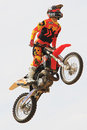 Driver el loco miralles fmx freestyle extreme barcelona in barcelona spain june Stock Image