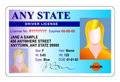 Driver license identity card Stock Photo