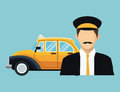 Driver old taxi cab car commercial transport Royalty Free Stock Photo