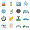 Driverless Car Autonomous Vehicle Icons Set Royalty Free Stock Photo