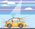 Driverless Car . Self-driving car Royalty Free Stock Photo