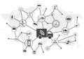Driverless trucks trucks as digital transportation concept Royalty Free Stock Photo