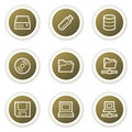 Drives and storage web icons Royalty Free Stock Photo