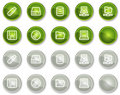 Drives and storage web icons, circle buttons Royalty Free Stock Photos