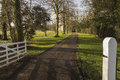 Driveway to the hall an image of leading wistow set in rural countryside of wistow leicestershire england uk Royalty Free Stock Photos