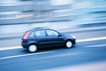 Driving car in city traffic in motion blur Royalty Free Stock Photos