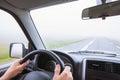 Guida auto nebbia male tempo