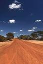 Driving through the desert Royalty Free Stock Photo