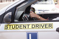 Driving education. Student driver. Royalty Free Stock Photo