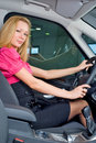 Driving girl Stock Image