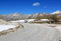 Driving in gran sasso park apennines italy d italia a mountain located the abruzzo region of central forms the centrepiece of the Royalty Free Stock Image
