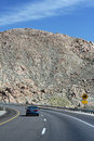 Driving on Highway 8 East to desert Royalty Free Stock Photos