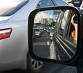 Driving mirror Royalty Free Stock Images
