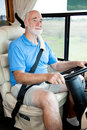 Driving the Motor Home Royalty Free Stock Photo