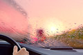 Driving onto a Highway at Sunset Royalty Free Stock Photo