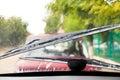 Driving in rain Royalty Free Stock Photo