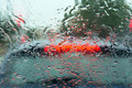 Driving rain Royalty Free Stock Photo