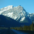 Driving Through The Rocky mountains Royalty Free Stock Photography