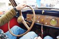 Driving a vintage car Royalty Free Stock Photo