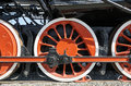 driving wheel of the historic steam locomotive Royalty Free Stock Photo