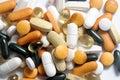 Drogas y vitaminas Fotos de archivo