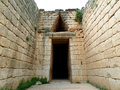 Dromos to the Beehive Tomb, Treasury of Atreus, Archaeological Site of Mycenae, Greece Royalty Free Stock Photo
