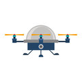 Drone advanced with cabin and three airscrew vector illustration Stock Photography