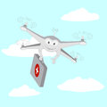 Drone . Ambulance services. The sky