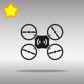 Drone black Icon button logo symbol
