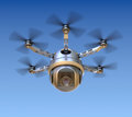 Drone with the camera d concept Stock Photo