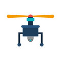 Drone with camera and one airscrew vector illustration Royalty Free Stock Photos