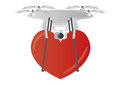A Drone delivering a heart shape