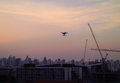 Drone Flying In The Evening Pa...