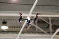 Drone flying in an industrial factory indoor Royalty Free Stock Photo