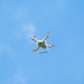 Drone  quadcopter with high resolution digital camera flying hove Royalty Free Stock Photo