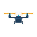 Drone with three airscrew and train of landing vector illustration Stock Photography