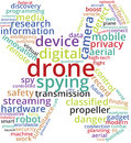 Drone Word Cloud Text Illustration.