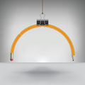 Drooping pencil hung by a binder clip for print or web Stock Image