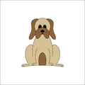 Droopy dog tan with cheek Royalty Free Stock Image
