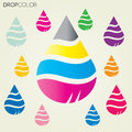 Drop cmyk vector can use in background or can modify with esp Royalty Free Stock Photography