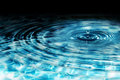 Drop in crystal clear water Royalty Free Stock Photo