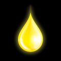 Drop of oil on dark background vector illustration Royalty Free Stock Photo