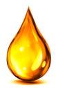 Drop of oil or fuel