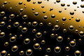 Droplets on metal surface Stock Photography