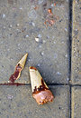 Dropped ice-cream, bad luck Royalty Free Stock Images